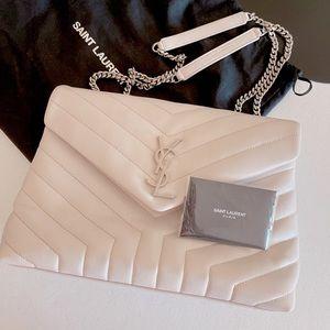 YSL LOULOU Medium Bag (BLANC VINTAGE)